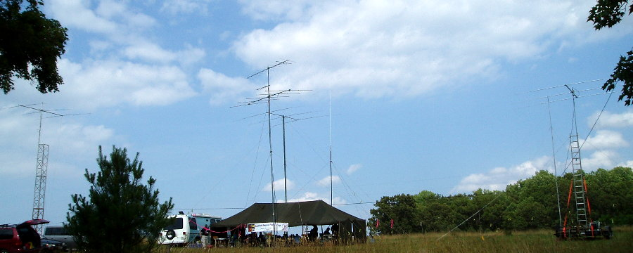 The Loudoun Amateur Radio Group's Emergency Operating Base of K4LRG during the 2008 American Radio Relay League's Field Day