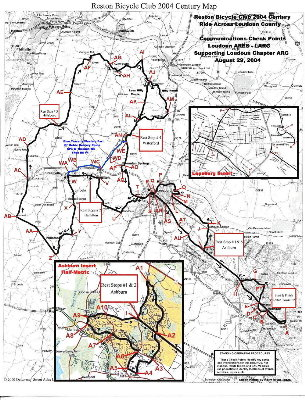 The 2004 Version of the Check Point Map. It's almost like this years routes. Click below to download a jpg file.