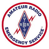 The LOGO of the Amateur Radio Emergency Service - An organization of the American Radio Relay League.